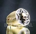 Picture of 21 x BRONZE RINGS STAR OF DAVID HEXAGON HEXAGRAM OCULT SKULL WHOLESALE-LOT