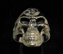 Picture of 21 x LUCKY NUMBER BRONZE BIKER RINGS STREETFIGHTER SKULL 13 ER MOTORBIKE CLUB MC WHOLESALE-LOT