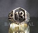 Picture of 21 x LUCKY NUMBER BRONZE BIKER RINGS CELTIC DESIGN 13 ER MOTORBIKE CLUB MC WHOLESALE-LOT