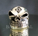 Picture of 21 x LUCKY NUMBER BRONZE BIKER RINGS GRINING SKULL 13 GNOME MOTORBIKE CLUB MC WHOLESALE-LOT