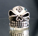 Picture of 21 x LUCKY NUMBER STERLING SILVER BIKER RINGS GRINING SKULL 13 GNOME MOTORBIKE CLUB MC WHOLESALE-LOT