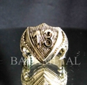Picture of 21 x LUCKY NUMBER BRONZE BIKER RINGS DRAGON SHIELD 13 ER MOTORBIKE CLUB MC WHOLESALE-LOT