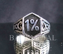 Picture of 21 x SOLID OUTLAW STERLING SILVER BIKER RINGS CELTIC DESIGN 1% ER MOTORBIKE CLUB MC WHOLESALE-LOT