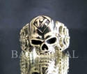 Picture of 21 x BRONZE RINGS BIKER RINGS SKULL & BONES 1% ER RIPPER MOTORBIKE CLUB MC WHOLESALE-LOT