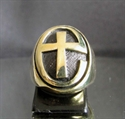 Picture of 21 x BRONZE RINGS ANGLICAN CHURCH JESUS LOVES YOU CROSS UK ENGLAND GB CHRIST WHOLESALE-LOT