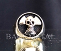 Picture of 21 x BRONZE FUKUSHIMA SKULL RINGS RADIOACTIVE NUCLEAR WARNING JAPAN WHOLESALE-LOT
