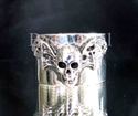 Picture of 21 x STERLING SILVER BAND RINGS VAMPIRE BAT SKULL WITH WINGS WHOLESALE-LOT