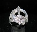 Picture of 21 x STERLING SILVER RINGS FRENCH FOREIGN LEGION SEAL COMBAT ARMY NAVY DIVERS WHOLESALE-LOT