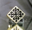 Picture of 21 x BRONZE RINGS DIAMOND SHAPE FLEUR DE LIS LILY CROSS BLACK WHOLESALE-LOT
