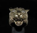 Picture of 21 x BRONZE MEN'S RINGS WITH A TIGER HEAD CZ EYES WHOLESALE-LOT