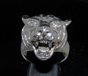 Picture of 21 x STERLING SILVER MEN'S RINGS WITH A TIGER HEAD CZ EYES WHOLESALE-LOT