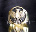 Picture of 21 x BRONZE RINGS INDONESIAN GARUDA FIREBIRD COAT OF ARMS WHOLESALE-LOT