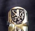 Picture of 21 x BRONZE RINGS SCOTTISH RAMPANT LION COAT OF ARMS WHOLESALE-LOT