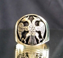 Picture of 21 x BRONZE MEN'S RINGS TWIN HEAD EAGLE COAT OF ARMS WHOLESALE-LOT