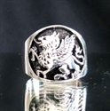 Picture of 21 x STERLING SILVER MEN'S RINGS GRIFFIN GRYPHON COAT OF ARMS WHOLESALE-LOT