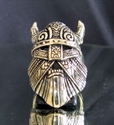 Picture of 21 x BRONZE MEN'S RINGS THE VIKING MASK WITH HORNS WARHAMMER THOR WHOLESALE-LOT