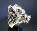 Picture of 21 x STERLING SILVER RINGS WITH THE HEAD OF A WILD BOAR WHOLESALE-LOT