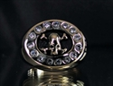 Picture of 21 x BRONZE STATEMENT RINGS SKULL SURROUNDED BY SPARKLING CZ'S WHOLESALE-LOT
