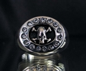 Picture of 21 x STERLING SILVER STATEMENT RINGS SKULL SURROUNDED BY SPARKLING CZ'S WHOLESALE-LOT