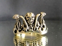 Picture of 21 x BRONZE RINGS MAD MAX CRAZY BIKER ON CHOPPER WHOLESALE-LOT
