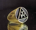 Picture of 21 x BRONZE RINGS MASONIC ARCHER SYMBOL WHOLESALE-LOT