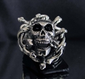 Picture of 21 x STERLING SILVER SKULL GOTHIC RINGS MEDUSA HEAD SNAKE SKULL WHOLESALE-LOT