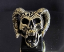 Picture of 21 x BRONZE RINGS ONE PERCENETER RAM SKULL THE DEVIL'S OUTLAW WHOLESALE-LOT