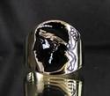 Picture of 21 x BRONZE RINGS FLAG OF CORSICA WITH BLACK ENAMEL WHOLESALE-LOT