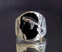 Picture of 21 x STERLING SILVER RINGS FLAG OF CORSICA WITH BLACK ENAMEL WHOLESALE-LOT