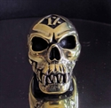 Picture of 21 x BRONZE RINGS ONE PERCENETER ZOMBIE SKULL OUTLAW WHOLESALE-LOT