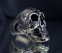 Picture of 21 x STERLING SILVER SKULL BIKER RINGS ONE PERCENTER OUTLAW 1%ER WHOLESALE-LOT
