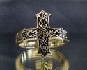 Picture of 21 x BRONZE RINGS WITH CELTIC KNOT CROSS WHOLESALE-LOT
