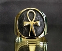 Picture of 21 x BRONZE RINGS WITH BIG EGYPT ANKH SYMBOL OF LIFE WHOLESALE-LOT