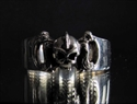 Picture of 21 x STERLING SILVER BAND RINGS GIRLY PUNK SKULL WHOLESALE-LOT