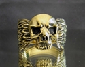 Picture of 21 x BRONZE BIKER RINGS SKULL WITH WINGS WHOLESALE-LOT