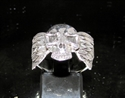 Picture of 21 x STERLING SILVER MEN'S BIKER RINGS SKULL WITH WINGS WHOLESALE-LOT