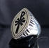 Picture of 21 x MARQUISE SHAPED STERLING SILVER CHRISTIAN MONOGRAM POPE RINGS CHI RHO X P WHOLESALE-LOT