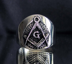 Picture of 21 x MASONIC STERLING SILVER RINGS WITH FREEMASON SYMBOL WHOLESALE-LOT