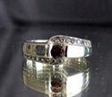 Picture of 21 x ELEGANT STERLING SILVER RINGS WITH 17 SPARKLING CZ RED WHOLESALE-LOT