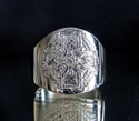 Picture of 21 x STERLING SILVER RINGS WITH CELTIC KNOT CROSS HIGH POLISHED WHOLESALE-LOT