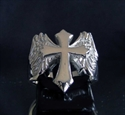 Picture of 21 x STERLING SILVER RINGS FLYING CROSS WITH WINGS HIGH POLISHED WHOLESALE-LOT