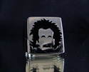 Picture of 21 x STERLING SILVER SIGNET RINGS ALBERT EINSTEIN GRAFFITI BLACK WHOLESALE-LOT