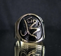Picture of 21 x BRONZE MUSLIM RINGS WITH ARABIC LETTER MOHAMMED WHOLESALE-LOT