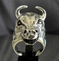 Picture of 21 x STERLING SILVER ANIMAL RINGS WITH THE HEAD OF A BULL EL TORRO WHOLESALE-LOT