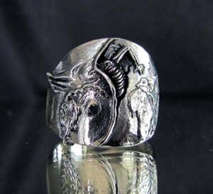 """Picture of 21 x STERLING SILVER ARTWORK RINGS """" THE BIRTH OF DEATH """" INSPIRED BY DALI WHOLESALE-LOT"""