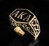 "Picture of 21 x BRONZE MEN'S INITIAL RINGS "" A K A "" ALSO KNOWN AS PSEUDONYM WHOLESALE-LOT"