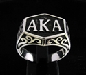 "Picture of 21 x STERLING SILVER INITIAL RINGS "" A K A "" ALSO KNOWN AS PSEUDONYM WHOLESALE-LOT"