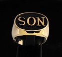 "Picture of 21 x BRONZE MEN'S INITIAL RINGS "" SON "" ONE WORD WHOLESALE-LOT"
