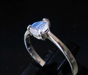 Picture of 21 x STERLING SILVER GEMSTONE RINGS WITH BLUE FIRE MOONSTONE PEAR CUT WHOLESALE-LOT