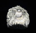 Picture of 21 x HUGE STERLING SILVER RINGS MALE LION HEAD KING OF THE DJUNGLE LEO WHOLESALE-LOT